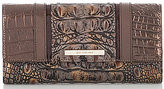 Brahmin Cosimo Collection Crocodile-Embossed Soft Checkbook Wallet