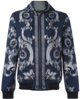 Versace baroque print hoodie - men - Cotton/Polyamide/Spandex/Elastane - L