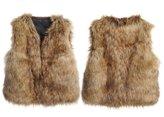 Per Unisex Baby Faux Fur Vest Warm Sleeveless Jacket-S(1-2Y)