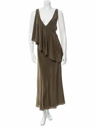 Jason Wu Silk Dress w/ Tags Olive