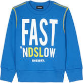 Diesel Fast 'nDSLow crew neck cotton jumper 4-6 years