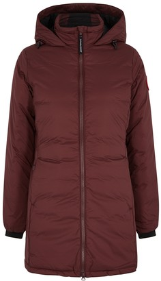 Canada Goose Camp Burgundy Padded Ripstop Jacket