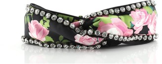 Gucci Headband Crystal Embellished Printed Silk Large