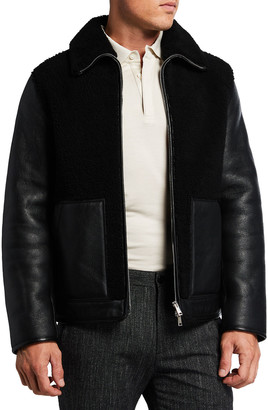 Theory Men's Stonem Leather & Shearling Jacket