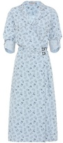 Bottega Veneta Cotton linen-blend printed dress