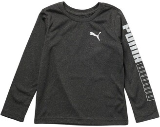 Puma Up-N-Down Heathered Long Sleeve T-Shirt