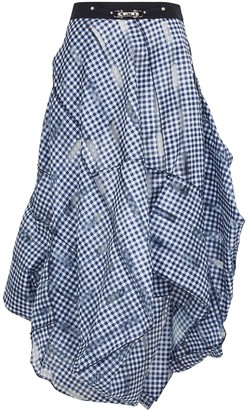 High Nocturne Checked Organza Midi Skirt