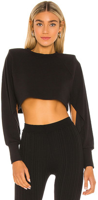 Michael Costello x REVOLVE Long Sleeve Cropped Ribbed Top