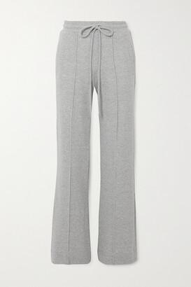 Twenty Montreal Sunnyside Melange Cotton-blend Terry Track Pants - Gray
