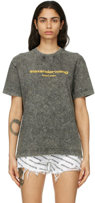 Alexander Wang Black Acid Logo T-Shirt