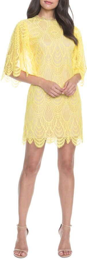 Dress the Population Toni Lace Angel Sleeve Sheath Dress