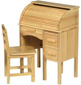 Guidecraft Jr. Roll-Top Desk & Chair Set - Light Oak