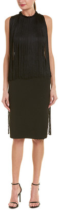 Stella McCartney Fringe Silk-Lined Midi Dress