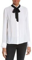 Frame Women's Tie Neck Edwardian Blouse