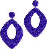Deepa Gurnani Erté Cobalt Earrings