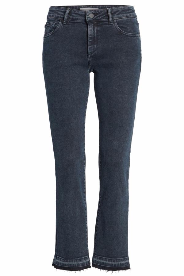 DL1961 Crop Buttoned Hem Jeans