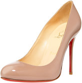 Round-Toe Straight-Heel Pump
