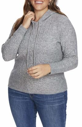 Court & Rowe Bennett Sweater in Silver Hthr Size 1X