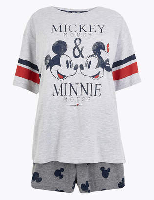 Thomas Laboratories M&S CollectionMarks and Spencer Pure Cotton Mickey Mouse Shorts Pyjama Set