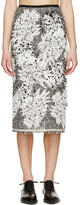 Erdem Black and White Tweed Safia Skirt