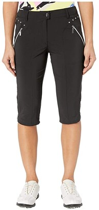Jamie Sadock Airwear(r) Hybrid Lightweight Capris (Jet Black) Women's Casual Pants