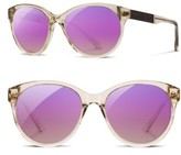 Shwood Women's Madison Acetate Polarized Sunglasses - Champagne/ Ebony/ Rose Polar
