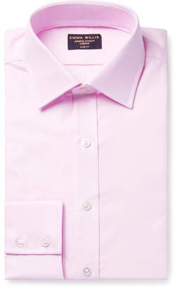 Pink Slim-Fit Cotton Oxford Shirt