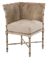 John-Richard Collection Double Caned Corner Chair