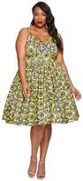 Unique Vintage Plus Size Damask Golightly Dress Women's Dress