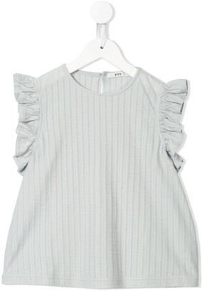Fith Embroidered Ruffle-Trim Top