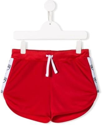Chiara Ferragni Kids Short Track Shorts