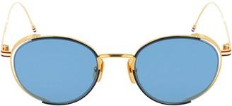 Thom Browne Eyewear Stripe Round Sunglasses