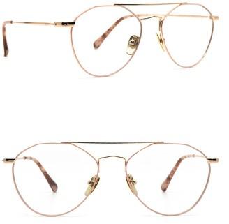 Diff Eyewear Sunday 54mm Aviator Blue Light Blocking Glasses