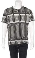 Just Cavalli Geometric Print Scoop Neck T-Shirt