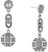 Louise et Cie Rhodium Plated Post Drop Earrings