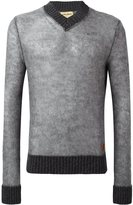 Al Duca D'Aosta 1902 - v-neck sweater - men - Acrylic/Polyamide/Mohair/Wool - XL