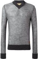 Al Duca D'Aosta 1902 - v-neck sweater - men - Acrylic/Polyamide/Mohair/Wool - XL