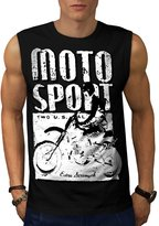 Moto Bike Sport Race Dirt Track Men NEW M Sleeveless T-shirt | Wellcoda