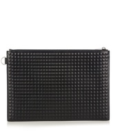 Balenciaga Grid-embossed Leather Pouch