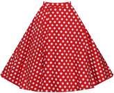 Ladyjiao Womens 50s Vintage Retro Polka Dots Swing Rockabilly Casual Party Skirts Puffy Underskirt Slips blue dot M