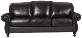 Gdfstudio GDF Studio Corina Stud Accented Dark Brown Leather Sofa