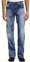 Affliction Cooper Distressed Straight-Leg Jeans