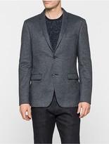 Calvin Klein Indigo Fitted Wool Blend Blazer