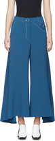 Peter Pilotto Blue Flared Safari Trousers