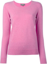 N.Peal cashmere ribbed trim jumper