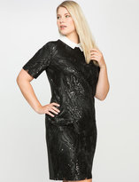 ELOQUII Plus Size Embroidered Sequin Dress