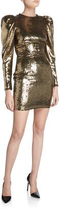 Alexandre Vauthier Sequined Puff-Sleeve Mini Dress
