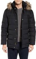 Spyder Men's Garrison Water Repellent Down Jacket With Faux Fur Trim