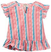 Lucky Brand Striped Flutter Sleeve Top (Big Girls)