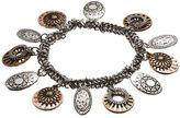 Apt. 9 Textured Circle Charm Stretch Bracelet